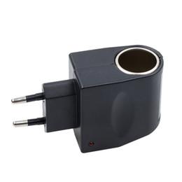 eu plug mini cargador de coche Rebajas Ette Mini encendedor del coche 220v adaptador de la UE nos enchufe de CA 220V al DC 12V del convertidor de energía de la pared del cargador del divisor del zócalo del automóvil
