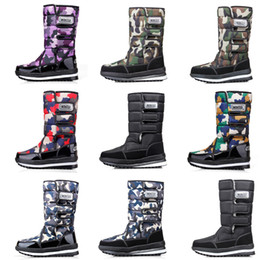 waterproof camo fabric Promo Codes - 2020 New Fashion designer boots for women men Camo Half Boot Classic snow winter boots waterproof platform booties 36-46