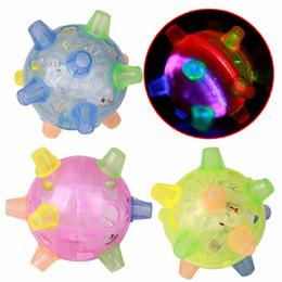 crianças, pular, bola Desconto Piscando bola cão para cão brinquedo engraçado colorido de Jogos crianças LED bola Animais Brinquedos Jumping Joggle louco Crianças Futebol