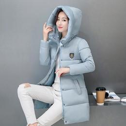 2018 La nueva capa de Parkas Mujer invierno de las mujeres chaqueta de algodón engrosamiento de invierno para mujer Outwear Parkas Mujeres larga con capucha M-3XL desde fabricantes