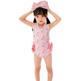 59999a583f08f Baby Swimwear Girls Cartoon Pattern 2-12 Years old Kids Bikini one piece  Swimsuit Children Swimming wear Bathing suit