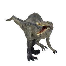 2019 uniformi di combattimento militare nero Simulazione 31CM Dinosauro Giocattolo Modello Solido PVC Spinosaurus Spinosaurus Drago egiziano Mandibola Rimovibile
