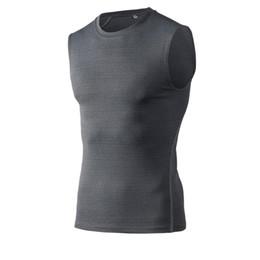 Correndo Colete Para Os Homens Sem Mangas T Camisa Em Execução Homem Pro Sports Bottom Camisas Respirável Quick Dry Jogging Sports Formação Vest de Fornecedores de sueter de prata
