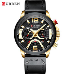 luxury watches curren Coupons - Curren Mens Watches Top Brand Luxury Chronograph Men Watch Leather Luxury Waterproof Sport Watch Men Male Clock Man Wristwatch 5 Colors