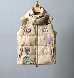 2020 colete branco com capuz Nova 2019 Francês Jacket vento Ladies Inverno Vest Popular Vest Luxo Jackets shirt quente para baixo casaco com capuz Down Vest Plus Size S-L desconto colete branco com capuz