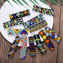 Bohemian Charm Square Ribbon  Flowers Bracelets for Women 2019 Temperament Ethnic Fashion Bangle Dairy Life Holiday Date от