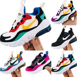 nuevo diseño de zapatos de futbol Rebajas Zapatillas de deporte transpirables de gasa para niños React270 2019 Zapatillas de deporte de amortiguación React270 Zoom Air y React para niños originales