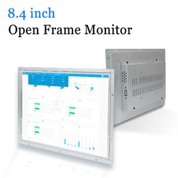 8.4 pollici industriale metallo Shell Open Frame Monitor LED con il VGA HDMI DVI Output AV da