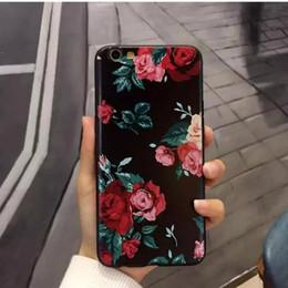 Старинный розовый телефон онлайн-3D Rose Flower Vintage Чехол для IPhone X S XS Макс Xr 6 6 S 7 8 Plus I Phone 8plus ТПУ Задняя Крышка Ретро Мягкий Телефон Защитные Чехлы 300 шт.