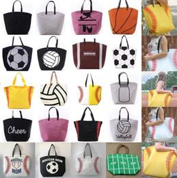 Bolsas de almacenamiento deportivo 20 diseños 17 * 23 * 7.8 pulgadas Bolsas de asas de béisbol Mujeres de gran capacidad Bolsas de hombro de softbol Hombres Bolsos de fútbol desde fabricantes