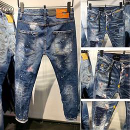 2019 jeans vert foncé hommes dsquared2 jeans Concepteur D'été  Hommes Tops Tête De Tête Lettre Broderie T-shirt Pour Hommes Marque À Manches Courtes T-shirt Femmes Tops