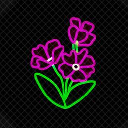 Restaurante comercial letreros de neón online-Muestra de la noche de flores Bar Restaurante Oficina Comercial Residencial decoración del hogar 12 V Colores remolque luz de neón
