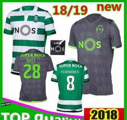f2e15e9a6a807 2018 2019 Sporting Lisbon Soccer Jersey Lisboa Dost Martins Camisa 18 19  Bas Bruno Fernandes Camiseta de fútbol