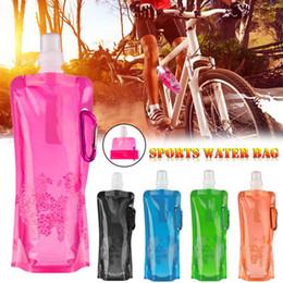 2019 jaula de botella de carbono verde Suave Frasco Bolsa de Agua Portátil Ultraligero Bicicleta Plegable Carretera MTB Botella Deporte Al Aire Libre Senderismo Camping Bolsa de Agua Accesorios