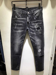 Argentina Los jeans italianos D2 para hombre, de estilo regular, delgado y recto, se concentran en el diseño del pantalón negro, pantalones para hombre882 cheap italian jeans Suministro