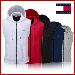 Polo shirts taschen online-Mantel der Männer 2019 Verkäufe! S-3XL neue Polo-Jacke 368 # Jackenweste beiläufige Reißverschluss-Taschenmänner Baumwollpolohemd heiße Kleidung der Männer freies Verschiffen