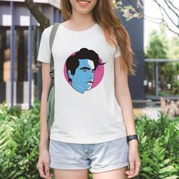 af9cde79fd78d2 gesicht t Rabatt Sommer Dame TEE Kurze Ärmel RIVERDALE Blue Face Printed  modemarke Designer T Shirts