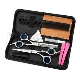 Argentina 50 unids herramientas de peluquería 6.0 pulgadas peluquero tijeras Kits cortadora de cabello maquinilla de combinación paquete de peinado tijeras herramienta de corte de pelo Suministro