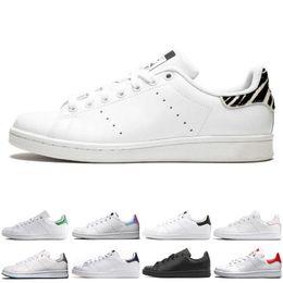 big sale d6e30 4cc0f Adidas smith Barato smith hombres mujeres zapatos stan negro blanco rojo  azul plata rosa smith zapatillas de deporte zapatos casuales leathe tamaño  36-44