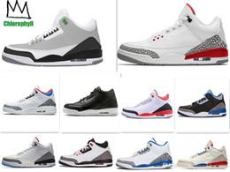 деревянная обувь Скидка 3 3s США Джорджтаун Хойас PE Pure White Man of Woods Катрина Мужчины Баскетбол обувь Мужские спортивные кроссовки 40-47