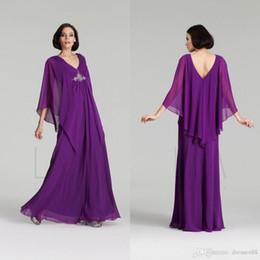 Billig plus größe abayas online-Elegant Günstige Kaftan Abaya Arabisch Abendkleider 2019 Chiffon Eine Linie Mit Perlen Gefaltet Lange Formale Plus Size Mutter der Braut Kleider Benutzerdefinierte