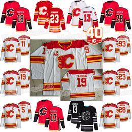 calgary jerseys Desconto 2019 Heritage clássico Calgary Flames 40th Anniversary Johnny Gaudreau Sean Monahan Elias Lindholm Matthew Tkachuk Mark Giordano Jerseys