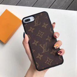 1 шт. Мода Телефон Case Высококачественные кожаные чехлы для Iphone X XR XS Max 7 8 Shell PU Кожаный Бренд Защитить Задняя Крышка бесплатная доставка от