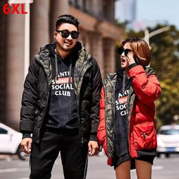e135c2aa033 Winter large size cotton coat 6XL shorts loose men s clothing plus size  trend hooded big man cotton jacket