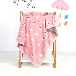 2019 cobertor decke Babydecken Neugeborenen gestrickte Baumwolle Frühling Swaddle Girl Boy Kinderwagen Decke Cobertor Infantil Wrap monatliche Kinder Quilt günstig cobertor decke