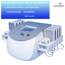 lipo fat machine Promo Codes - professional portable diode lipolaser lipo laser weight loss non invasive 12 pads 650nm&980nm slimming machine fat burning beauty equipment