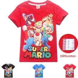 2019 adrette stil kleidung männer DGFSTM Hochwertige Mode-Designer kurze T-Shirt im europäischen Stil Herren Rundhalsausschnitt Super Mario T-Shirt Baumwolle Kurzarm-Kleidung C21 günstig adrette stil kleidung männer