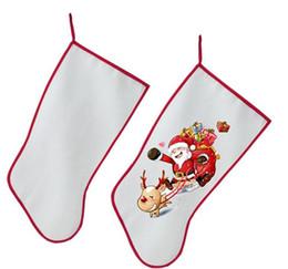 sublimação, Meia de Natal decoração Socks em branco consumíveis personalizada DIY personalizado fornece quente de transferência material de SN3237 de
