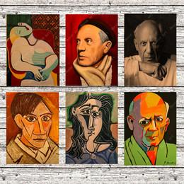 2019 peintures tulipes abstraites Peintre Espagnol Pablo Picasso Peinture Sur Toile Vintage Mur Photos Kraft Affiches Enduit Autocollants Muraux Décoration de La Maison Cadeau