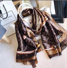 Argentina Venta al por mayor 2019 marca bufanda moda dama bufandas de seda imprimir chales suaves pashmina foulard femme pañuelo largo bufanda de lujo envío gratis Suministro