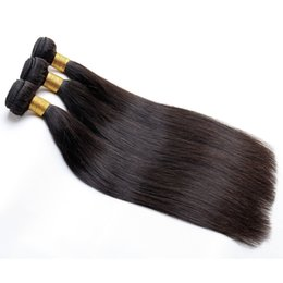 Argentina Paquetes de cabello humano Cabello liso Las extensiones de cabello virgen peruano de Malasia, indio de Malasia se pueden teñir y se pueden hacer con envío gratis Suministro