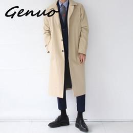 estilo de japão estilo japão Desconto Japão Estilo Mens Trench Coat 2019 Designer de Moda Longa Blusão Outono Inverno Único Breasted Overlay Casaco Plus Size À Prova de Vento