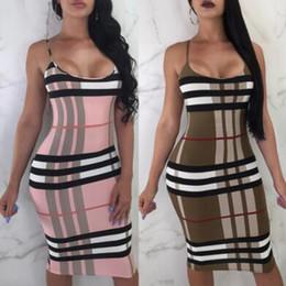 Vestido ajustado vendaje online-Moda-verano vestido de mujer estilo europeo y americano vestido ajustado sexy vendaje sexy hasta la rodilla Bodycon ropa femenina