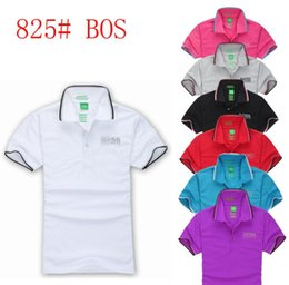 british t shirt brands Promo Codes - Bosses Men's Designer Polo T-Shirt Casual British Business Brand Letter Solid Polo Hugo Limited Private Custom Fashion T-Shirt