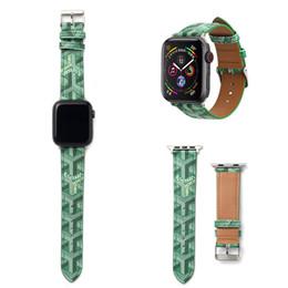 полосы замещения для гибкой гитары Скидка Top Fashion Ремешок 40MM 44MM дизайнер Кожаные ремешки для часов для Apple Watch Band 42мм 38мм iwatch 2 3 4 полосы Кожаный ремешок Спортивный браслет