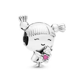 2019 925 ale pandora charme armbänder 2019 neue Top Qualität Sommer Echt 925 Sterling Silber Pandora Charme Für diy Armbänder Super Zirkonia Klar s ale Mädchen mit Zöpfen rabatt 925 ale pandora charme armbänder