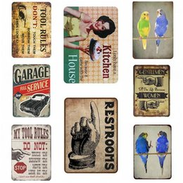 signs for cars Coupons - Metal Tin Signs For Wall Decor Vintage Oil Mobil Cars Iron Paintings Metal Signs Tin Plate Pub Bar Garage Home Decoration 30*20cm Gifts