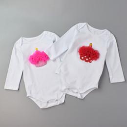 bodys algodão orgânico Desconto Bodysuits Meninas recém-nascidos de Manga Comprida Macacões Infantis Roupa De Algodão Orgânico Do Bebê Roupa Interior Bebes Macacão Presentes de Aniversário