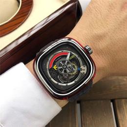 Quadrato di lusso del mens di orologio da polso online-Orologio da uomo da uomo in edizione limitata con cinturino in pelle da uomo