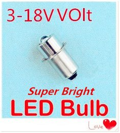 Torcia elettrica 1w online-50pcs LED E10 lampadina 3V 6V 12V incasso vite LED 1W luce 3V-18V led lampadina e10 1W vite base e10 lampadina torcia