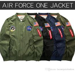 einheitliche bänder Rabatt Zarte Stickerei NASA Mann Jacken Designer Band Baseballuniform Mode Reißverschluss und Tasche schmücken Jacke WL