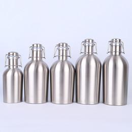 Edelstahl Flachmann 5 Größen Outdoor Isolierung Wein Topf Mit Deckel Whisky Kaltbierflasche Küche Esszimmer Bar Werkzeuge 10 Stücke DHL von Fabrikanten