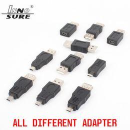 Üst Kalite 10kind / lot USB 2.0 Mini5P micro5P Erkek Kadın Adaptörü Dönüştürücü tüm farklı Şarj Birbirlerine OTG Veri Transferi dönüştürme nereden duvar köşebentleri lcd tedarikçiler
