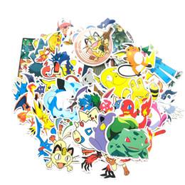 60 Pcs / set Pocket autocollants monstre de bande dessinée Pikachu Livre Bagages Ordinateur Portable Réfrigérateur de voiture Sticker Jouets C6873 ? partir de fabricateur