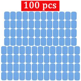 2019 copo de celulite a vácuo 100 pcs Substituição Almofadas de Gel Abs Músculo Estimulador Elétrico Dispositivo de Treinamento do Corpo Almofadas de Gel Para Ems Abdominal Abs Trainer Gel Patch J190706