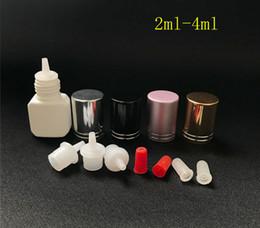 garrafas de plástico de plástico quadrado Desconto Novo Plástico Vazio Cílios Cola Garrafas 2-4 ml Plástico Garrafa Quadrado Para Spray Parfum Fles E Líquido E Suco Com Agulha Dicas Garrafas Conta-gotas